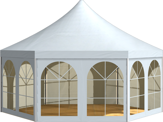 Party Tent Hexagonal Holiday 6 04m R 214 Der China Tents